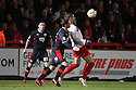 Marcus Haber of Stevenage holds off Dannie Bulman of Crawley. Stevenage v Crawley Town - npower League 1 -  Lamex Stadium, Stevenage - 15th December, 2012. © Kevin Coleman 2012..