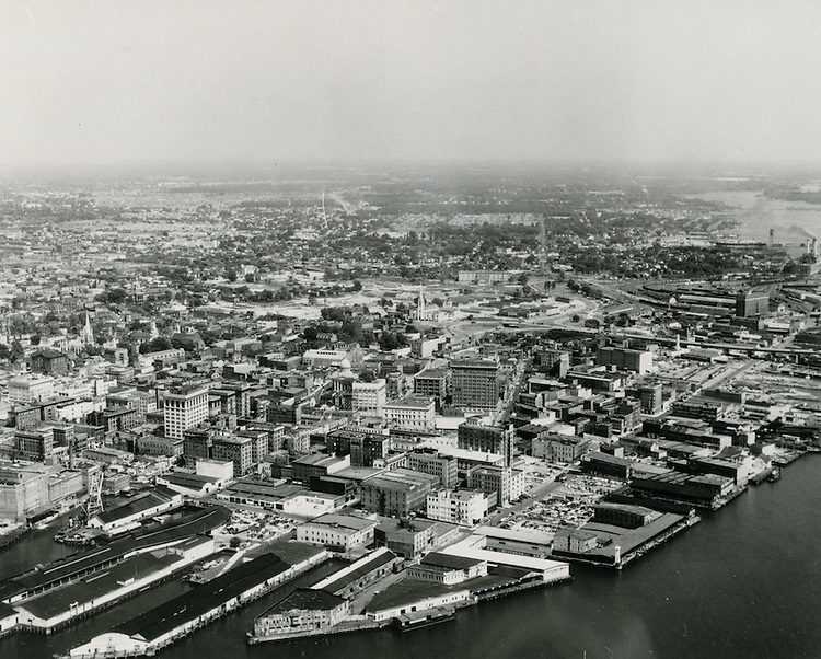 UNDATED..Historical.Downtown West (A-1-6)..View looking Northeast at Downtown Norfolk...NEG#.NRHA#..