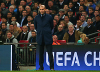 Zinedine Zidane, manager of Real Madrid during the UEFA Champions League Group H match between Tottenham Hotspur and Real Madrid at Wembley Stadium on November 1st 2017 in London, England. Foto Phc / Panoramic / Insidefoto