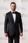 London, UK. 8 May 2016. Pictured: American singer Justin Timberlake. Red carpet arrivals for the House Of Fraser British Academy Television Awards at the Royal Festival Hall.