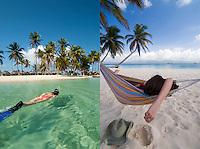 Snorkeling and hamock time, Isla Kuanidup, San Blas Islands, Panama