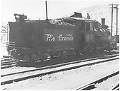 3/4 rear engineer's-side view of D&amp;RGW #315 in Durango yard.<br /> D&amp;RGW  Durango, CO