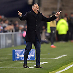 Sporting KC head coach Peter Vermes yells during his team's CONCACAF Champions League game against Toluca on February 21, 2019 at Children's Mercy Park in Kansas City, KS.<br /> Tim VIZER/Agence France-Presse