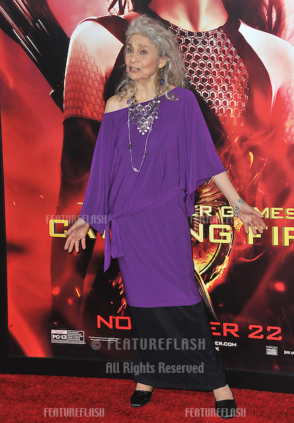 Lynn Cohen at the US premiere of her movie &quot;The Hunger Games: Catching Fire&quot; at the Nokia Theatre LA Live.<br /> November 18, 2013  Los Angeles, CA<br /> Picture: Paul Smith / Featureflash