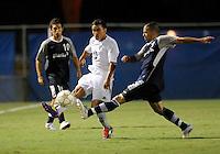 Florida International University men's soccer player Mario Uribe (17)  plays against Nova University on August 26, 2011 at Miami, Florida. FIU won the game 2-0. .