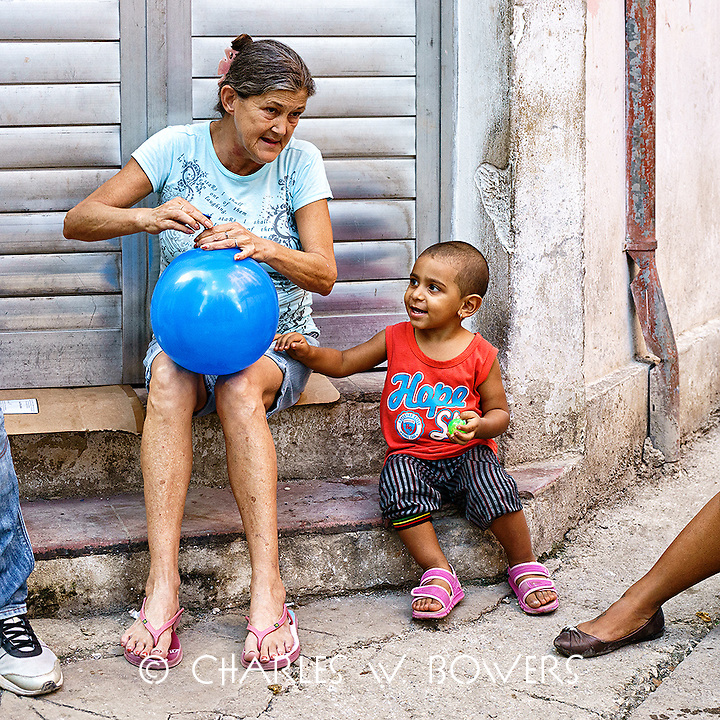 Faces Of Cuba - grandmother and grandson<br />