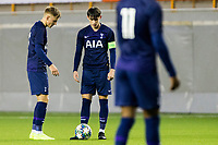 6th November 2019; Vozdovac Stadium, Belgrade, Serbia; UEFA Under 19 UEFA Youth league football, FK Crvena Zvezda under 19s versus Tottenham Hotspur under 19s; Harvey White  and Jamie Bowden of Tottenham Hotspurs FC discuss a direct free kick