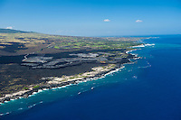 Aerial of Kohala Coast development amid lava fields