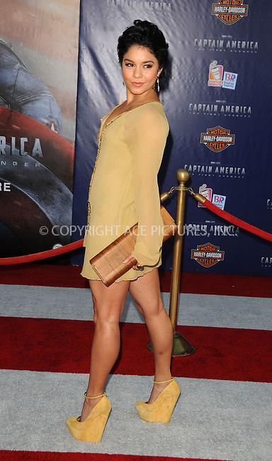 WWW.ACEPIXS.COM . . . . .  ....July 19 2011, LA....Actress Vanessa Hudgens arriving at the 'Captain America: The First Avenger' Los Angeles Premiere at the El Capitan Theater on July 19, 2011 in Hollywood, California.....Please byline: PETER WEST - ACE PICTURES.... *** ***..Ace Pictures, Inc:  ..Philip Vaughan (212) 243-8787 or (646) 679 0430..e-mail: info@acepixs.com..web: http://www.acepixs.com