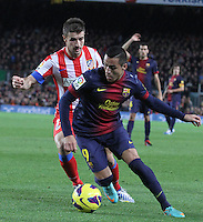 16.12.2012. Barcelona, Spain. La Liga day 16. Picture show Alexis Sanchez in action during game FC Bracelona against Atletico Madrid at Camp Nou
