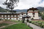 Monks during a lunch break at the <br />Royal School of Astrology in Thimphu<br /> degree course of 7 years with more than 116 students