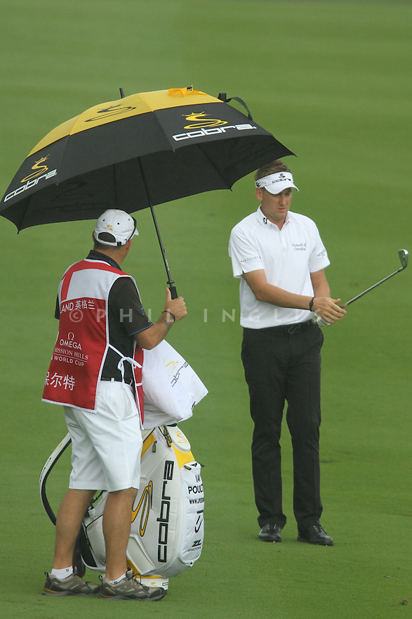 Ian Poulter (ENG) during the third round of the Omega Mission Hills World Cup played at The Blackstone Course, Mission Hills Golf Club on November 26th in Haikou, Hainan Island, China.( Picture Credit / Phil Inglis )