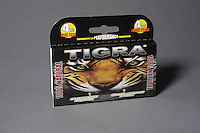 Montreal (Qc) CANADA - June 2 2012 -  TIGRA  : 100 % natural, 100 % made in quebec male enhancement potency pill - 4 pieces trial pack