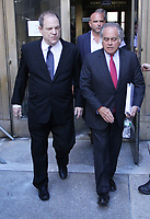 NEW YORK, NY July 09, 2018 Harvey Weinstein, Benjamin Brafman leaving  Criminal Court after additional  new charges lodged against him  at 100 Center St in New York. July 09, 2018 <br /> CAP/MPI/RW<br /> &copy;RW/MPI/Capital Pictures