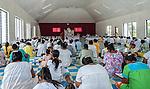 Sunday service in a village church on the remote island of Kiritimati in Kiribati