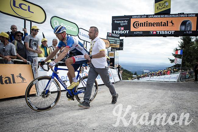 Rein Taaramäe (EST/Total Direct Energie) post race recovering  atop La Planche des Belles Filles. <br /> <br /> Stage 6: Mulhouse to La Planche des Belles Filles (157km)<br /> 106th Tour de France 2019 (2.UWT)<br /> <br /> ©kramon