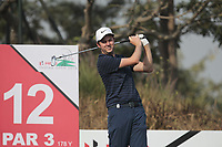 Ashley Chesters (ENG) in action on the 12th during Round 2 of the Hero Indian Open at the DLF Golf and Country Club on Friday 9th March 2018.<br /> Picture:  Thos Caffrey / www.golffile.ie<br /> <br /> All photo usage must carry mandatory copyright credit (&copy; Golffile | Thos Caffrey)