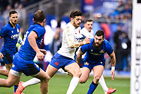 9th February 20020, Stade de France, Paris, France; 6-Nations international mens rugby union, France versus Italy;  Romain Ntamack ( France ) breaks tackles to run in for a try