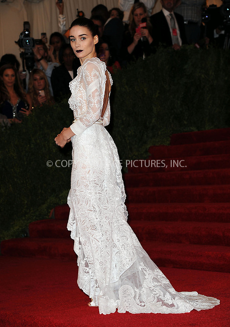 WWW.ACEPIXS.COM....May 6 2013, New York City....Rooney Mara arriving at the Costume Institute Gala for the 'PUNK: Chaos to Couture' exhibition at the Metropolitan Museum of Art on May 6, 2013 in New York City.....By Line: Kristin Callahan/ACE Pictures......ACE Pictures, Inc...tel: 646 769 0430..Email: info@acepixs.com..www.acepixs.com