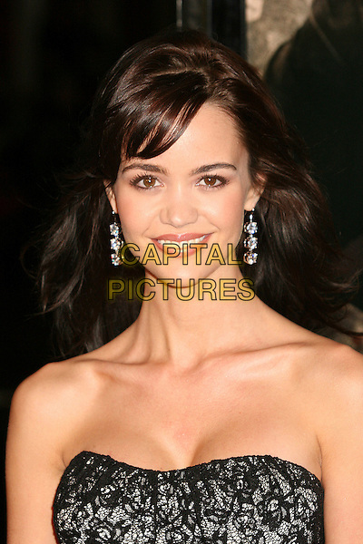 "APRIL SCOTT.""300"" Los Angeles Premiere at Grauman's Chinese Theatre, Hollywood, California, USA..March 5th, 2007.headshot portrait black lace strapless .CAP/ADM/BP.©Byron Purvis/AdMedia/Capital Pictures"