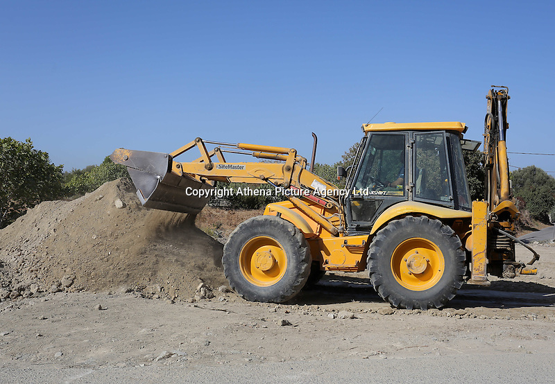 Pictured: A digger operates at the second site in Kos, Greece. Sunday 16 October 2016<br />Re: Police teams led by South Yorkshire Police are searching for missing toddler Ben Needham on the Greek island of Kos.<br />Ben, from Sheffield, was 21 months old when he disappeared on 24 July 1991 during a family holiday.<br />Digging has begun at a new site after a fresh line of inquiry suggested he could have been crushed by a digger.