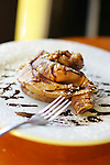 """A """"Whole Thing"""" crepe, filled with chocolate, bananas and walnuts, at Foolish Craig's in Boulder on October 9, 2006.  For Eat! Drink! Shop! in Boulder, on Pearl St., east of the Pearl St. Mall, on October 9, 2007.  (ELLEN JASKOL/ROCKY MOUNTAIN NEWS)."""