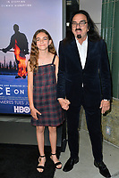"LOS ANGELES, USA. June 06, 2019: George DiCaprio & Normandy Farrar at the premiere for ""Ice on Fire"" at the LA County Museum of Art.<br /> Picture: Paul Smith/Featureflash"