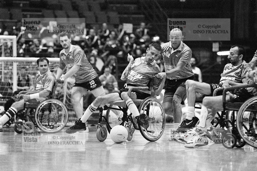 - Milan, sports games for the handicapped....- Milano, giochi sportivi per portatori di handicap