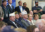 A large crowd gathered for the USS Nevada Centennial Ceremony in the old Assembly Chambers at the Capitol in Carson City, Nev., on Friday, March 11, 2016. Cathleen Allison/Las Vegas Review-Journal