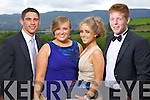 Pictured at the Gael Choláiste Chiarraí debs at Ballyroe Heights hotel on Monday evening were l-r: Liam Anthony Ó Cathasaigh, Cliodhna Hurley, Niamh Prendiville and Matthew Sean Grifín.