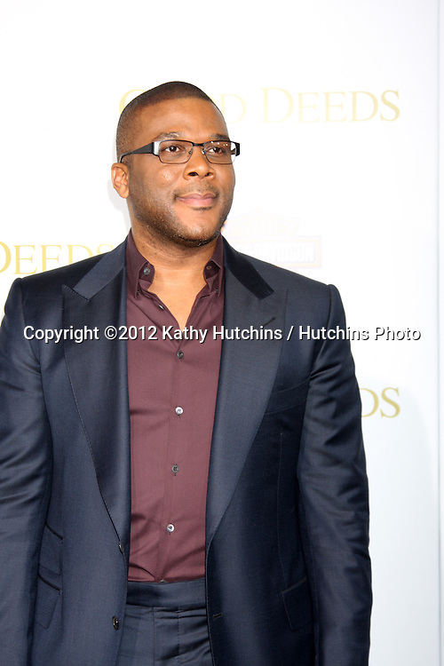 """LOS ANGELES - FEB 14:  Tyler Perry arrives at the """"Act of Valor"""" LA Premiere at the Regal 14 Theaters at LA Live on February 14, 2012 in Los Angeles, CA"""