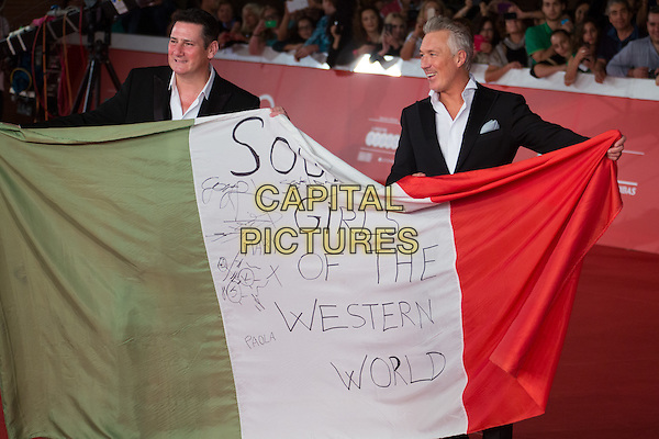 ROME, ITALY - OCTOBER 20: Tony Hadley, Gary Kemp of Spandau Ballet during the red carpet of the documentary 'Soul Boys of the Western World' presented during the 9th Rome Film Festival on October 20, 2014 in Rome, Italy.<br /> CAP/IND/LC<br /> &copy;LC/IND/Capital Pictures