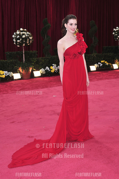 Anne Hathaway at the 80th Annual Academy Awards at the Kodak Theatre, Hollywood, CA..February 24, 2008 Los Angeles, CA.Picture: Paul Smith / Featureflash