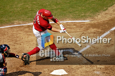 6 September 2006: Ryan Zimmerman, third baseman for the Washington Nationals, in action against the St. Louis Cardinals. The Nationals defeated the Cardinals 7-6 at Robert F. Kennedy Memorial Stadium in Washington, DC. ..Mandatory Photo Credit: Ed Wolfstein..