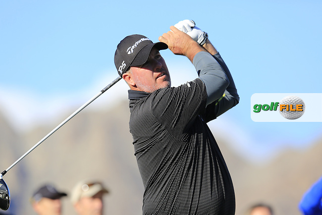 Boo Weekley (USA) tees off the 1st tee during Saturday's Round 3 of the 2017 CareerBuilder Challenge held at PGA West, La Quinta, Palm Springs, California, USA.<br /> 21st January 2017.<br /> Picture: Eoin Clarke | Golffile<br /> <br /> <br /> All photos usage must carry mandatory copyright credit (&copy; Golffile | Eoin Clarke)