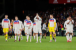 England's players celebrate the victory during UEFA Nations League 2019 match between Spain and England at Benito Villamarin stadium in Sevilla, Spain. October 15, 2018. (ALTERPHOTOS/A. Perez Meca)