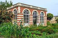 France, Sarthe (72), Le Lude, château et jardins du Lude, le potager, l'orangerie