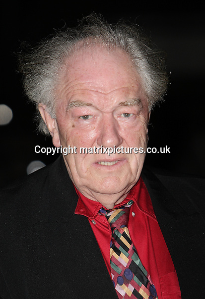 NON EXCLUSIVE PICTURE: MATRIXPICTURES.CO.UK.PLEASE CREDIT ALL USES..WORLD RIGHTS..Picture shows British actor Michael Gambon attending the London Evening Standard British Film Awards at the Marriott Hotel County Hall, London...FEBRUARY 4th 2013..REF: GBH 13740