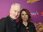 John McEnroe and Patty Smyth attend the Broadway Opening Performance of 'Charlie and the Chocolate Factory' at the Lunt-Fontanne Theatre on April 23, 2017 in New York City.
