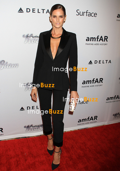 Izabel Goulart attends the 4th Annual amfAR Inspiration Gala. New York, June 14, 2013.