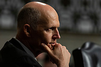 Senator Rick Scott, Republican of Florida, listens to testimony from a witness during a Senate Commerce Committee hearing on Capitol Hill in Washington, DC on February 6, 2019. Credit: Alex Edelman / CNP
