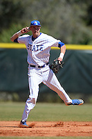 South Dakota State JackRabbits shortstop Tyler Shannon (3) during a game against the Maine Black Bears at South County Regional Park on March 9, 2014 in Port Charlotte, Florida.  Maine defeated South Dakota 5-4.  (Mike Janes/Four Seam Images)