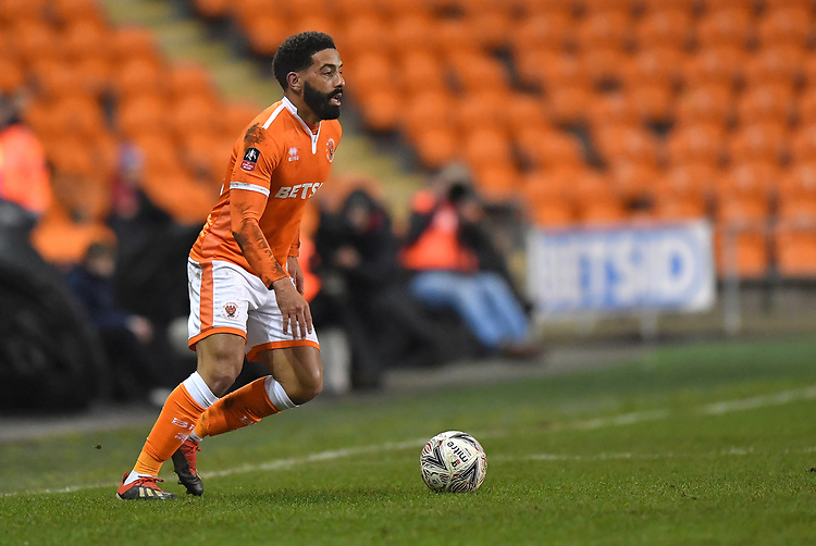 Blackpool's Liam Feeney<br /> <br /> Photographer Dave Howarth/CameraSport<br /> <br /> The Emirates FA Cup Second Round Replay - Blackpool v Solihull Moors - Tuesday 18th December 2018 - Bloomfield Road - Blackpool<br />  <br /> World Copyright © 2018 CameraSport. All rights reserved. 43 Linden Ave. Countesthorpe. Leicester. England. LE8 5PG - Tel: +44 (0) 116 277 4147 - admin@camerasport.com - www.camerasport.com