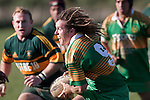 Drury halfback Carl Selby looks for options as the Pukekohe defenders close in. Counties Manukau Premier Club rugby game between Drury & Pukekohe played at the Drury Domain on Saturday May 23rd 2009..Pukekohe won the game 23 - 11 after laeding 16 - 11 at halftime.