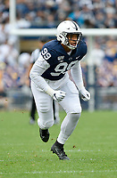 UNIVERSITY PARK, PA - SEPTEMBER 14: Penn State DE Yetur Gross-Matos (99) rushes the quarterback during the Pittsburgh Panthers (Pitt) vs. Penn State Nittany Lions September 14, 2019 at Beaver Stadium in University Park, PA. (Photo by Randy Litzinger/Icon Sportswire)
