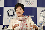 Yuriko Koike, AUGUST 22, 2016 : Yuriko Koike attends a press conference at Tokyo 2020 Japan House in Rio de Janeiro, Brazil. Yuriko Koike Governor of Tokyo spoke about her aspirations for Tokyo 2020 after the previous night's handover ceremony at the Rio 2016 Olympic Games. (Photo by Yusuke Nakanishi/AFLO SPORT)