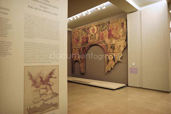 copyright: Magali Corouge / Documentography.Muse?e Byzantin et Chre?tien d'Athe?nes..Mars 2010, Athe?nes.