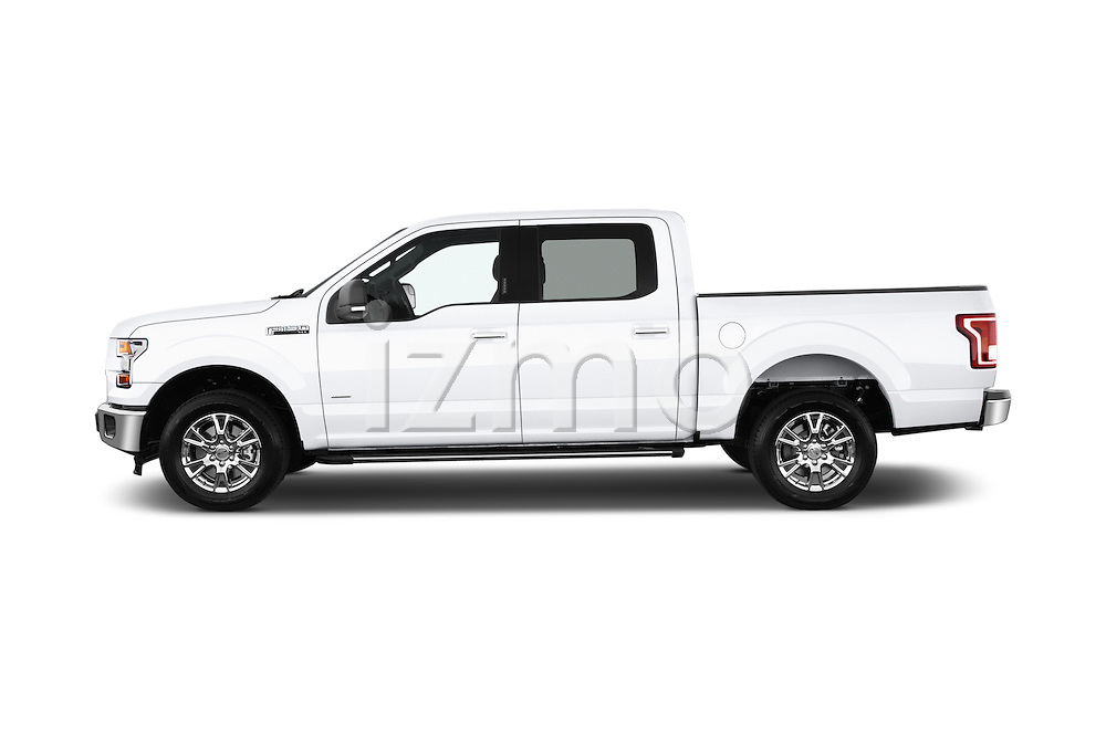 Car driver side profile view of a 2015 Ford F 150 Xlt 4X2 Ecoboost 5 Door Trucks
