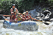 Bucking Rainbow Outfitters crashing Cable Rapid while floating the Upper Colorado River from Rancho Del Rio to State Bridge on the morning of July 12, 2014.