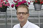 Foto: VidiPhoto<br /> <br /> ENS  - Portret van Dieter Baas, eigenaar van kwekerij Baas (Bloeiende Blijmakers) uit Ens in de Noordoostpolder.